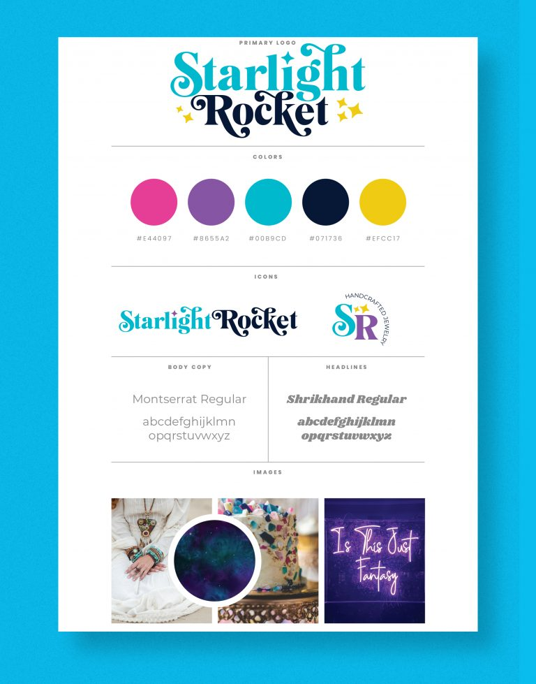 Starlight Rocket Branding Board