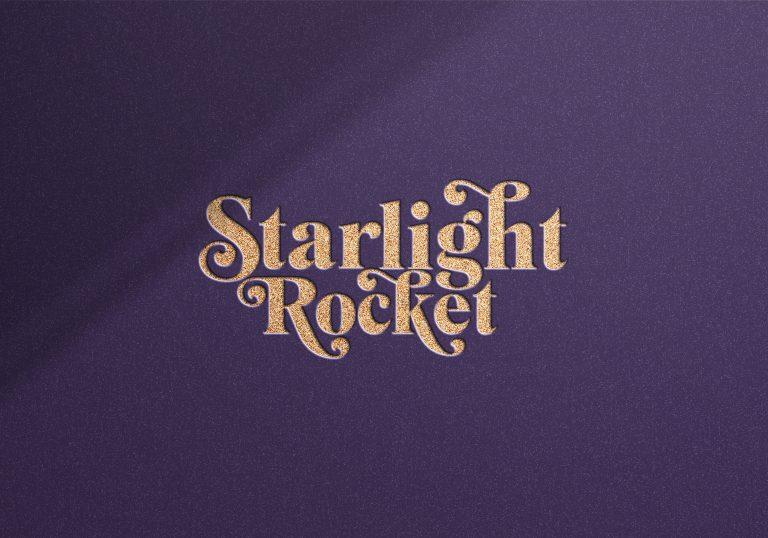 Starlight Rocket Foiled Logo