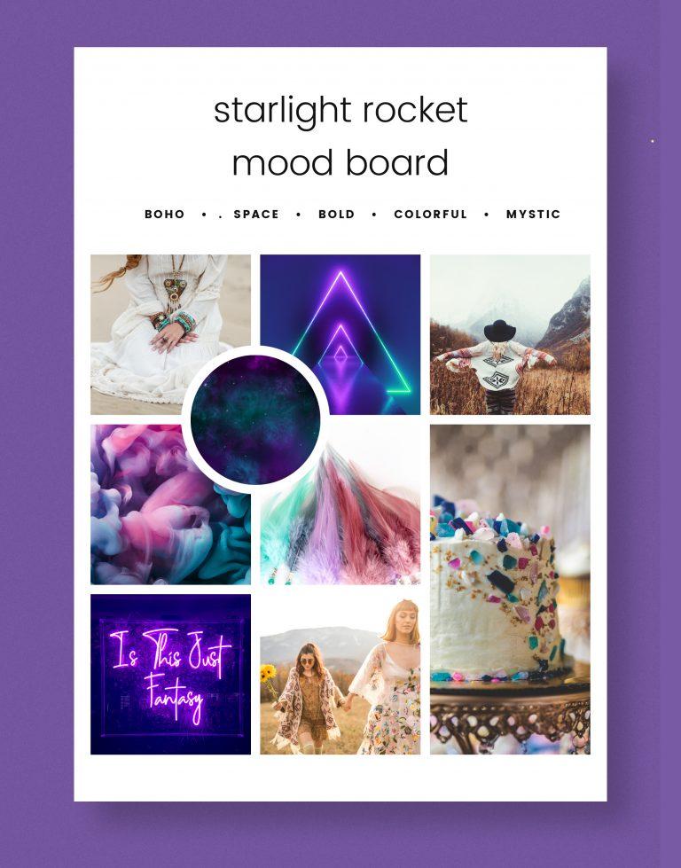 Starlight Rocket Mood Board