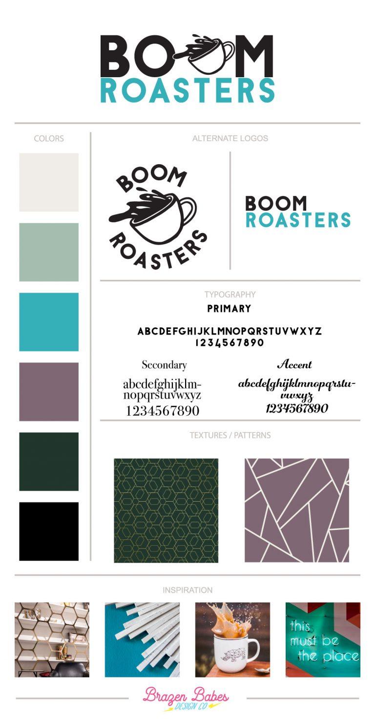 Boom Roasters Brand Board